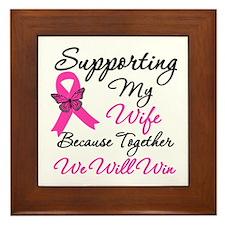 Breast Cancer Support (Wife) Framed Tile