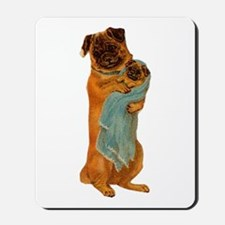 Mother Pug and Baby Mousepad