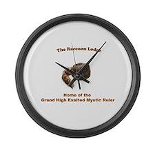 Raccoon Lodge Large Wall Clock
