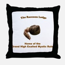 Raccoon Lodge Throw Pillow