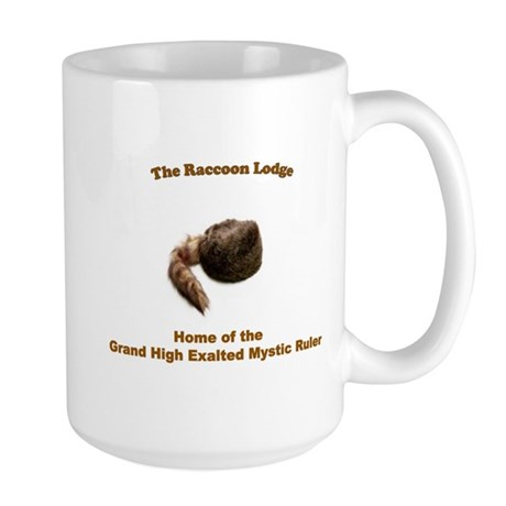 Raccoon Lodge Large Mug