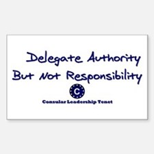 DP-Delegate Authority Rectangle Decal