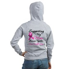Breast Cancer Support Mom Zip Hoody