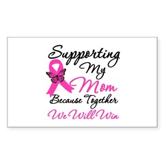 Breast Cancer Support Mom Rectangle Decal