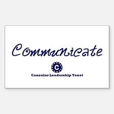 DP-Communicate Rectangle Decal