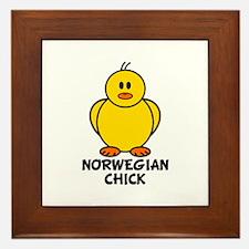 Norwegian Chick Framed Tile