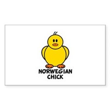 Norwegian Chick Rectangle Decal