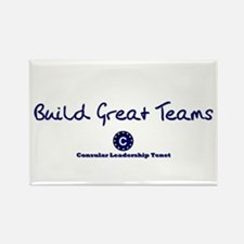 Build Great Teams Rectangle Magnet