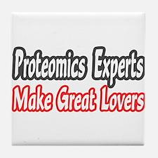"""Proteomics...Great Lovers"" Tile Coaster"