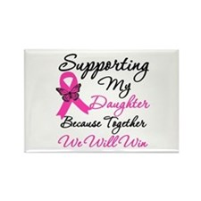 Breast Cancer Daughter Rectangle Magnet