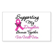 Breast Cancer Daughter Rectangle Decal