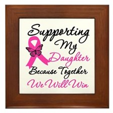 Breast Cancer Daughter Framed Tile