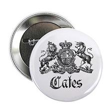 """Cates Vintage Last Name Crest 2.25"""" Button"""