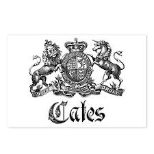 Cates Vintage Last Name Crest Postcards (Package o
