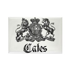 Cates Vintage Last Name Crest Rectangle Magnet