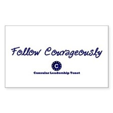Follow Courageously Rectangle Decal