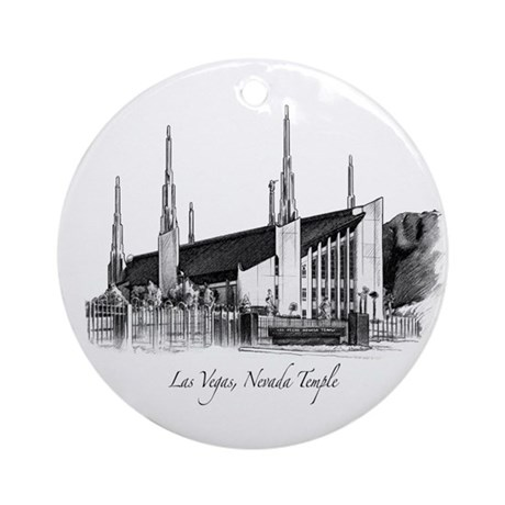 Las Vegas, Nevada Temple Ornament (Round)