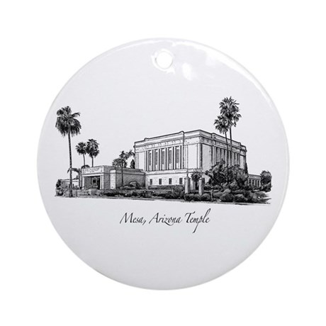 Mesa, Arizona Temple Ornament (Round)