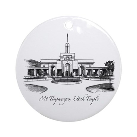 Mt Timpanogos Temple Ornament (Round)