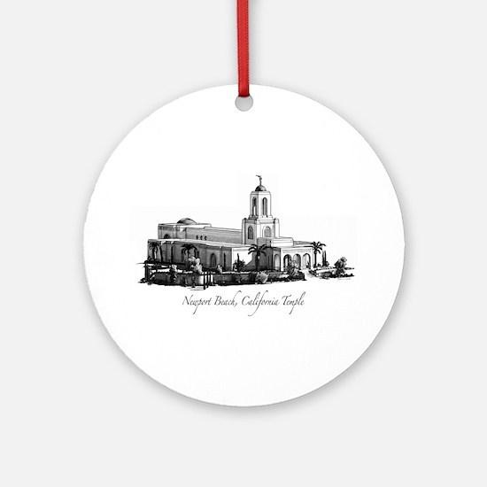 Newport Beach, California Tem Ornament (Round)