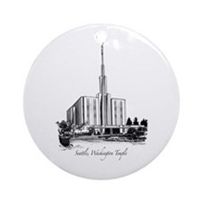 Seattle, Washington Temple Ornament (Round)