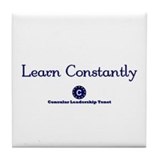 Learn Constantly Tile Coaster
