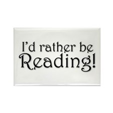 Rather Be Reading Rectangle Magnet