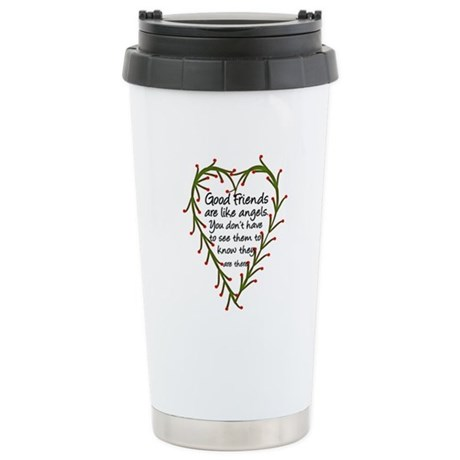 Friends Are Like Angels Stainless Steel Travel Mug