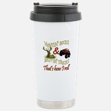 Drivin' Trucks & Huntin' Bucks Travel Mug