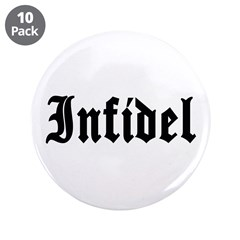 """Infidel 3.5"""" Button (10 pack)"""