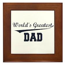 World's Greatest Dad Framed Tile