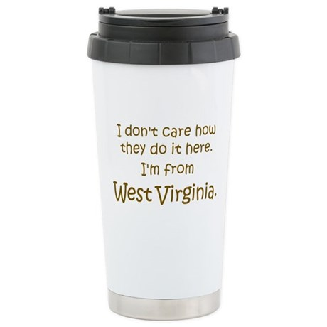 From West Virginia Stainless Steel Travel Mug