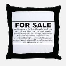 For Sale - Illinois Senate Seat Throw Pillow