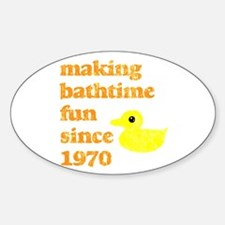 RUBBER DUCKY Oval Decal