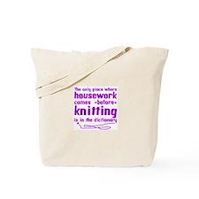 Housework before Knitting Tote Bag