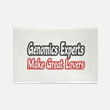 """Genomics Experts..Lovers"" Rectangle Magnet"