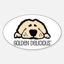 Golden Delicious Oval Decal