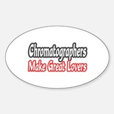 """Chromatographers..Lovers"" Oval Decal"