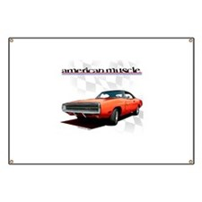 1970 Dodge Charger Red Banner
