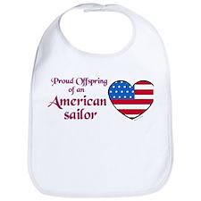 Proud Offspring/American Sailor Bib