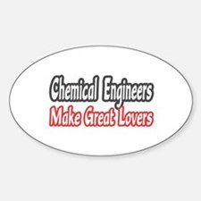 """Chemical Engineers..Lovers"" Oval Decal"