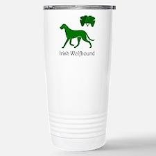 Kelly Green Ir Wolfhound on Travel Mug