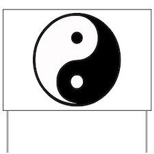 Yin Yang Symbol Yard Sign