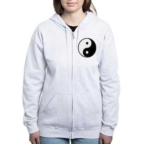 Yin Yang Symbol Women's Zip Hoodie