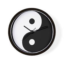 Yin Yang Symbol Wall Clock