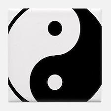 Yin Yang Symbol Tile Coaster