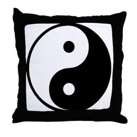 Yin Yang Symbol Throw Pillow