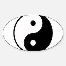 Yin Yang Symbol Oval Decal