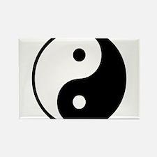 Yin Yang Symbol Rectangle Magnet (10 pack)