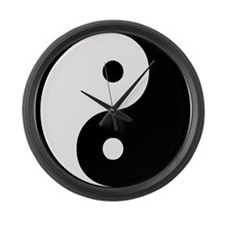 Yin Yang Symbol Large Wall Clock